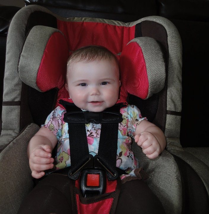 Marlee in the Recaro