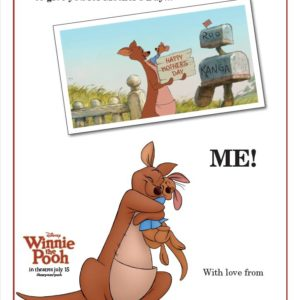 Winnie the Pooh Mother's Day Card!