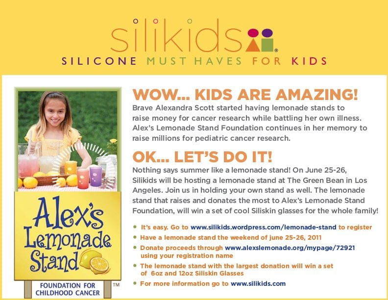 Host your own SILIKIDS Lemonade Stand