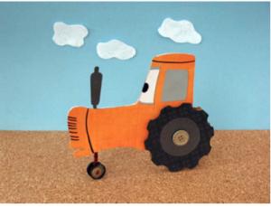 Tippy Cardboard Tractor