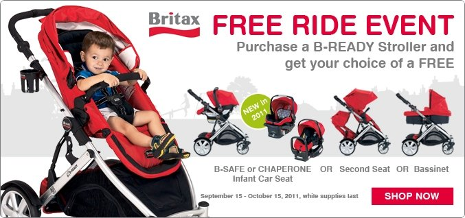 "NATIONAL BRITAX ""FREE RIDE"" EVENT HELPS GROWING FAMILIES SAVE MONEY {press release}"