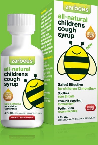 natural cough syrup, zarbees