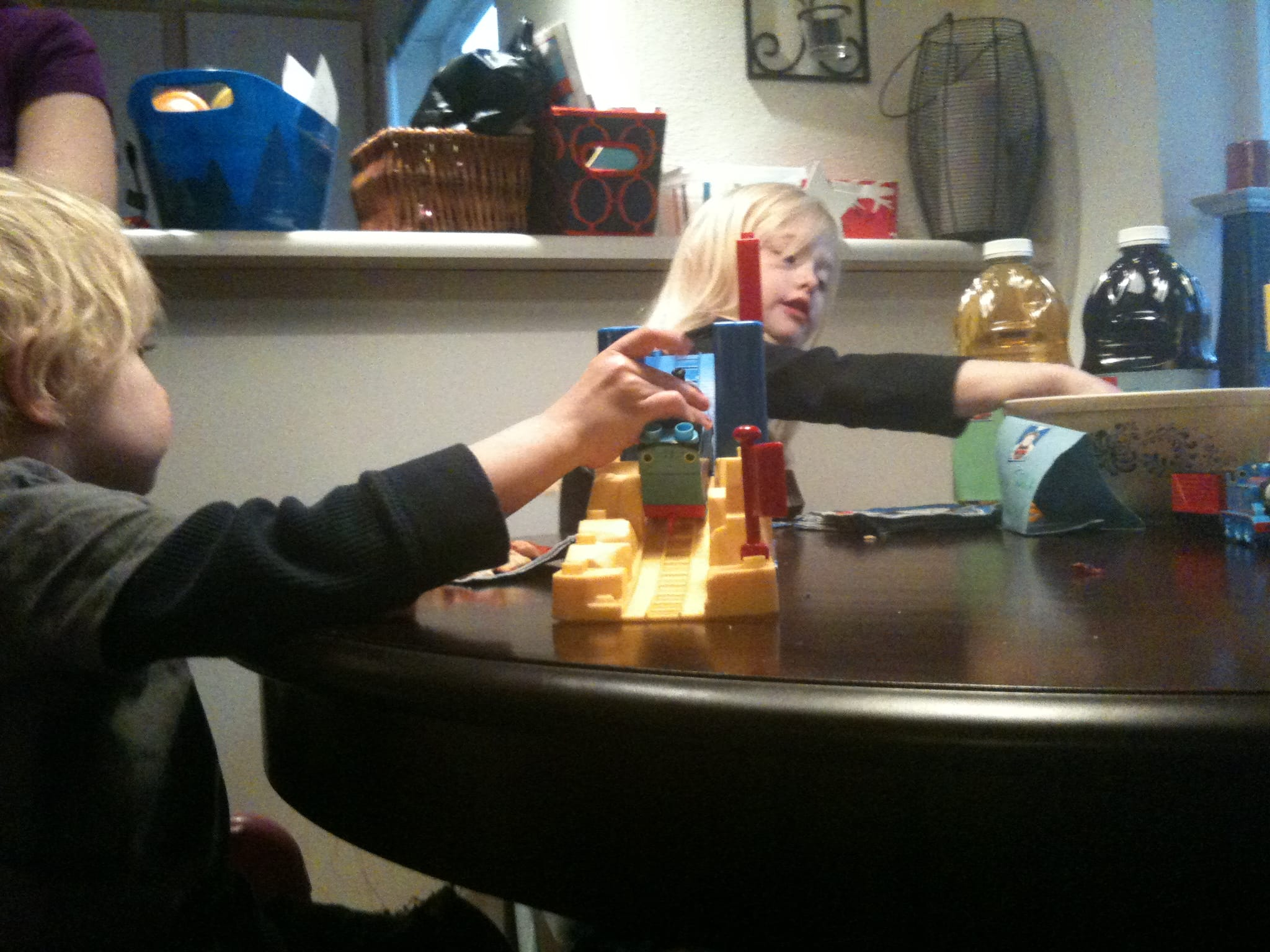 Mega Bloks + a rainy afternoon = fun!
