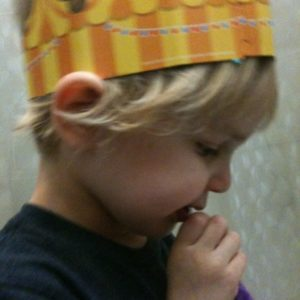 In our house, we were crown when we brush our teeth...