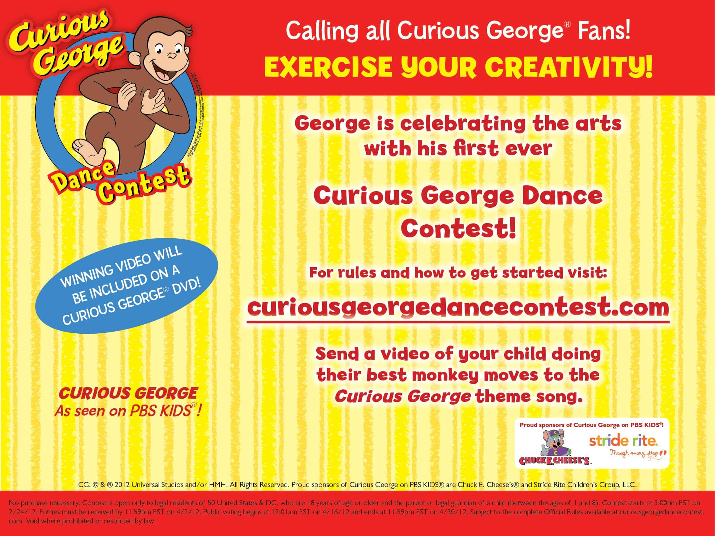 All you have to do is DANCE with Curious George! {contest) #CuriousGeorgeMoms