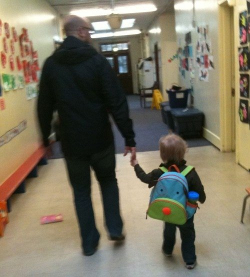 Sebby's First Day of Preschool