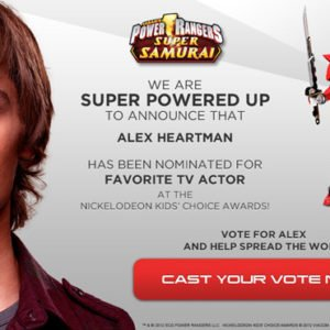 Vote for Red Ranger, Alex Heartman – Nick's Kids' Choice Awards 2012