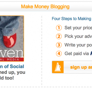 Got blog? Earn money doing sponsored posts with Social Spark.