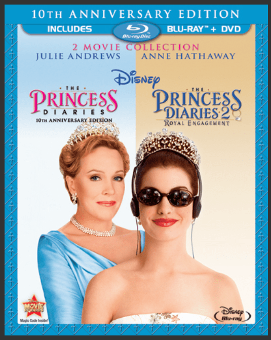 Pick up the Princess Diaries & Princess Diaries 2 on Blu-Ray + DVD today!