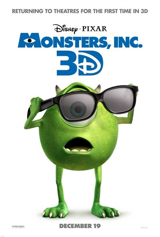 MONSTERS, INC returns to theaters in 3D!