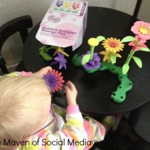 Stacking fun and fine motor skills with @GreenToysInc Build-A-Bouquet