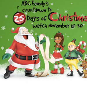 Countdown to 25 Days of Christmas starts TODAY on ABC Family!