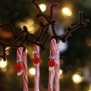 Holiday Craft: Candy Cane Reindeer