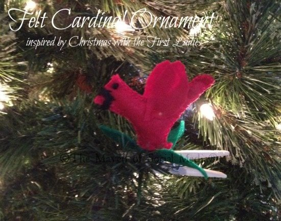 clothespin cardinal