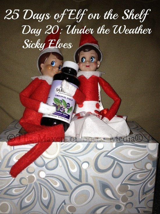 25 Days of Elf on the Shelf – Day 20 #elfontheshelf