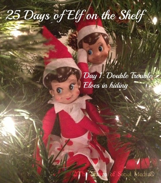 And so it begins, 25 days of Elf on the Shelf #elfontheshelf