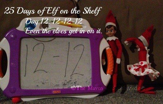 25 Days of Elf on the Shelf – Day 12 #elfontheshelf