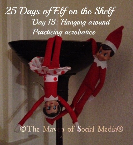 25 Days of Elf on the Shelf – Day 13 #elfontheshelf