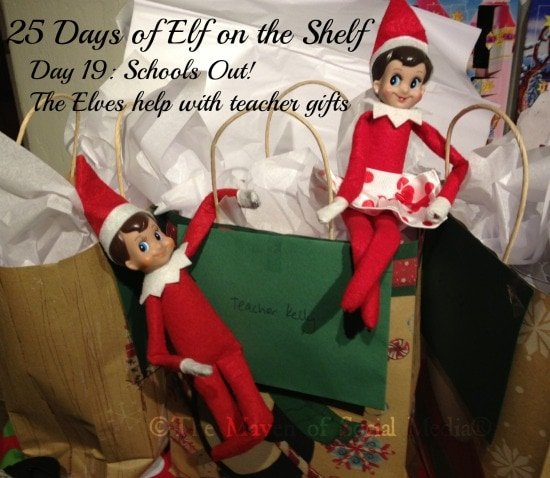 25 Days of Elf on the Shelf – Day 19 #elfontheshelf