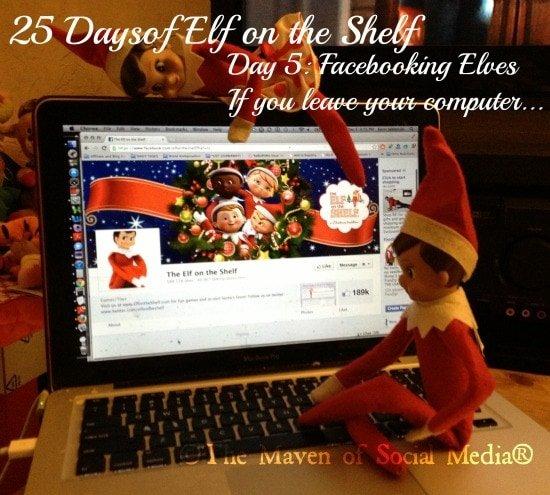 25 Days of Elf on the Shelf – Day 5 #elfontheshelf