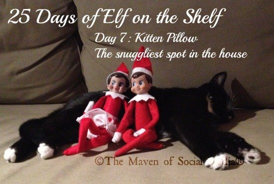 25 Days of Elf on the Shelf – Day 7 #elfontheshelf