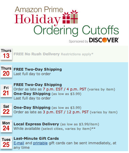 There is still time to do your Holiday Shopping with Amazon!