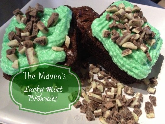 St. Patrick's Day Lucky Mint Brownies - The Maven of Social Media®