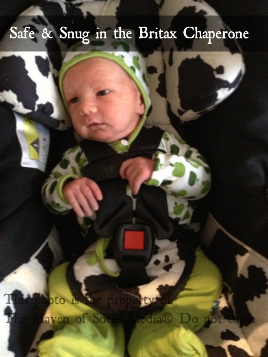 A safe ride for Edison: the Britax Chaperone infant car seat