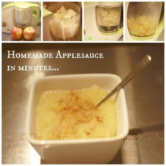 Quick and easy homemade baby food in minutes!