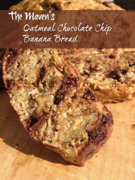 oatmeal chocolate chip banana bread