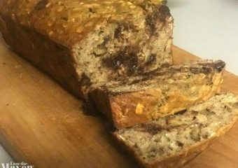 sliced oatmeal chocolate chip banana bread