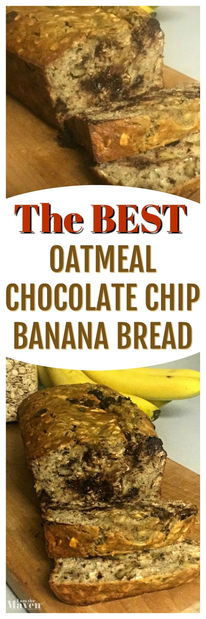 the best oatmeal chocolate chip banana bread