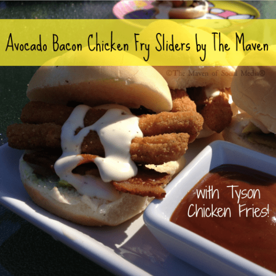 Kid Friendly: Avocado Bacon Chicken Fry Sliders #chickenfrytime #Cbias