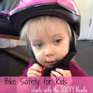 Bike safety for kids starts with the Joovy Noodle.