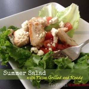 Summer Salad: Eating well with Tyson #GrilledAndReady #Cbias