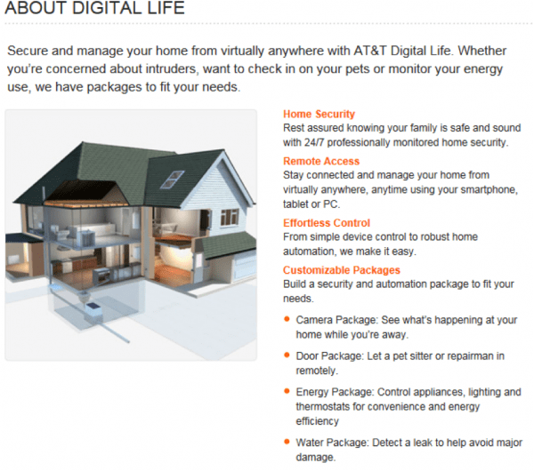 Secure your home with AT&T Digital Life