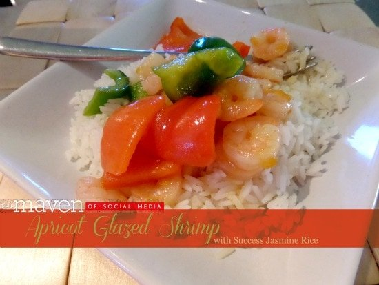 Apricot Glazed Shrimp with Success Rice