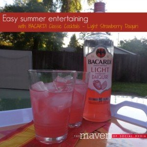 Easy summer entertaining thanks to BACARDI cocktails