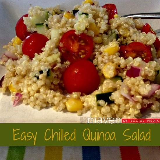 Easy Chilled Quinoa Salad