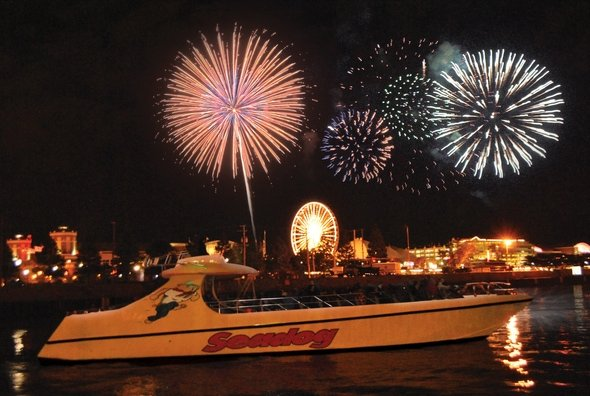 I'm going on a Fireworks Seadog Cruise in Chicago!