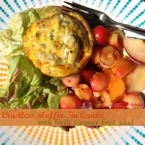 Crustless Muffin Tin Quiche by the Maven