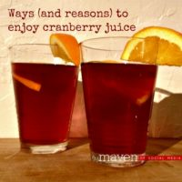 Ways (and reasons) to enjoy cranberry juice