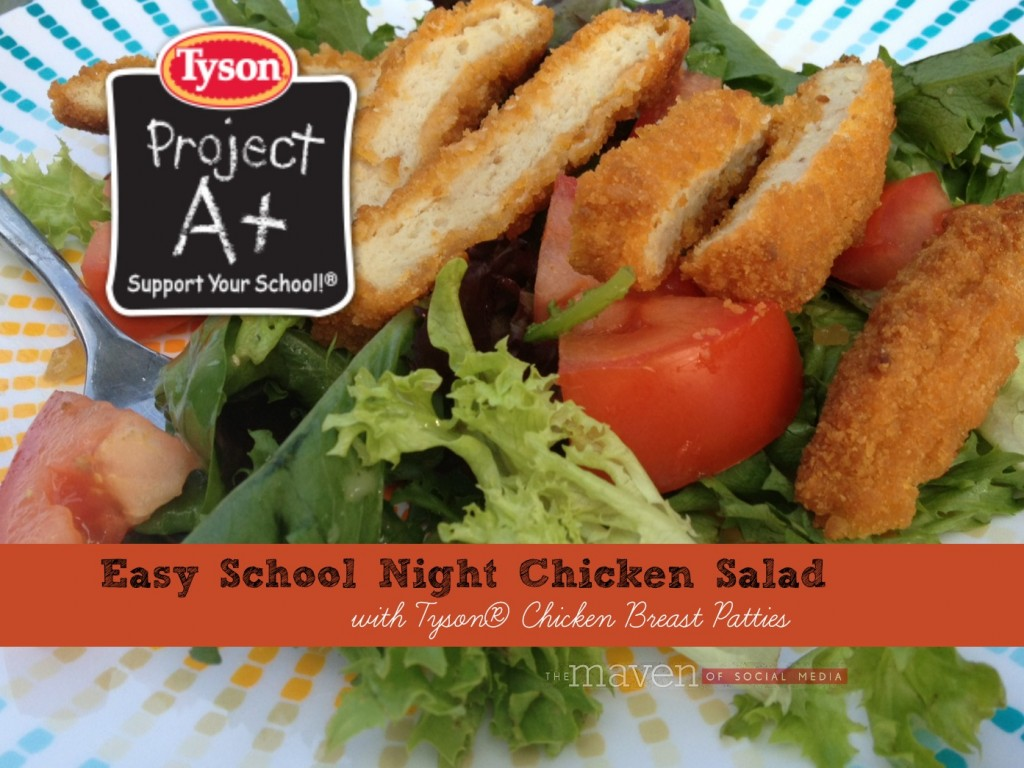 #ad Easy Salad with Tyson Chicken