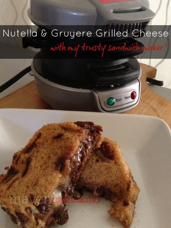 Nutella & Gruyere Grilled Cheese ~ The Maven of Social Media ® - http://themavenofsocialmedia.com/2013/08/nutella-grilled-cheese/