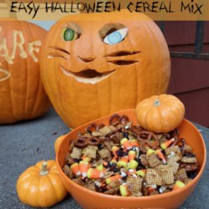 Easy Halloween Cereal Mix