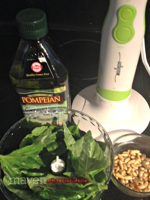pompeian olive oil pesto