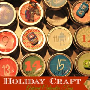 Holiday Craft: Advent Calendar Tins