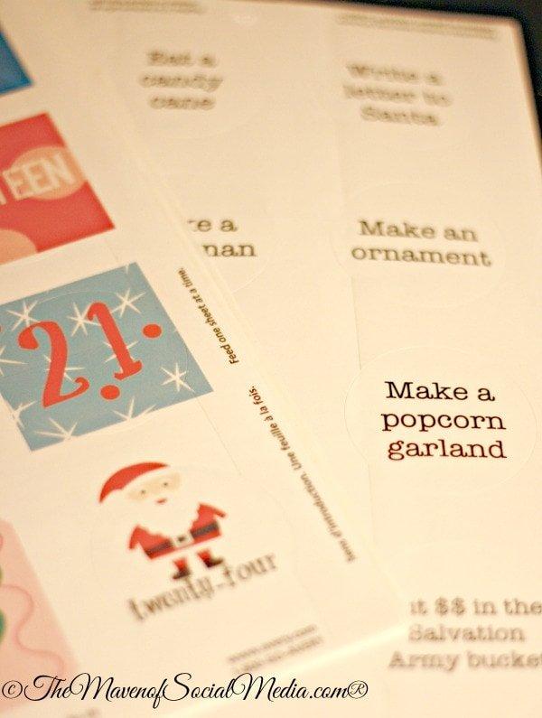 Labels for Advent Calendar Tins ~ The Maven of Social Media®