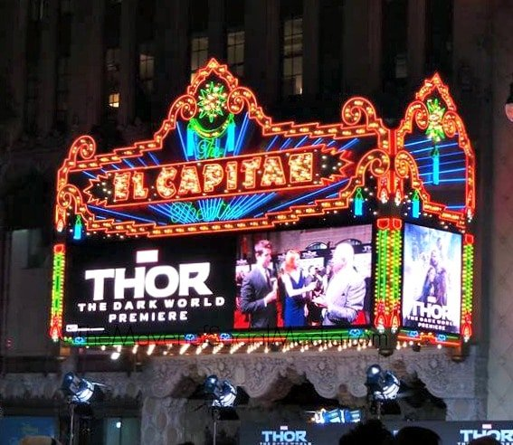 Thor 2 The Dark World Hollywood Premiere at The El Capitan Theater