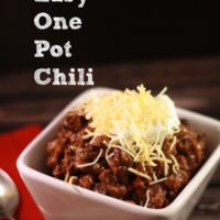 Easy One Pot Chili ~ The Maven of Social Media®